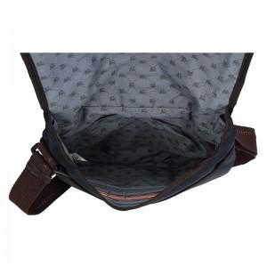 Pánská taška přes rameno Lerros Olnas - modro-hnědá