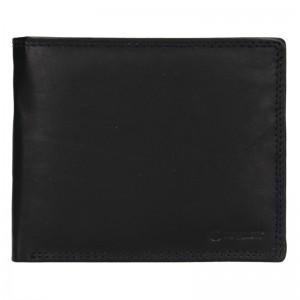 Pánská kožená peněženka Diviley Evžen - černá