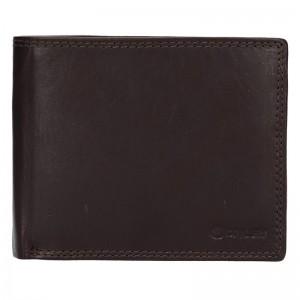 Pánská kožená peněženka Diviley Evžen - tmavě hnědá