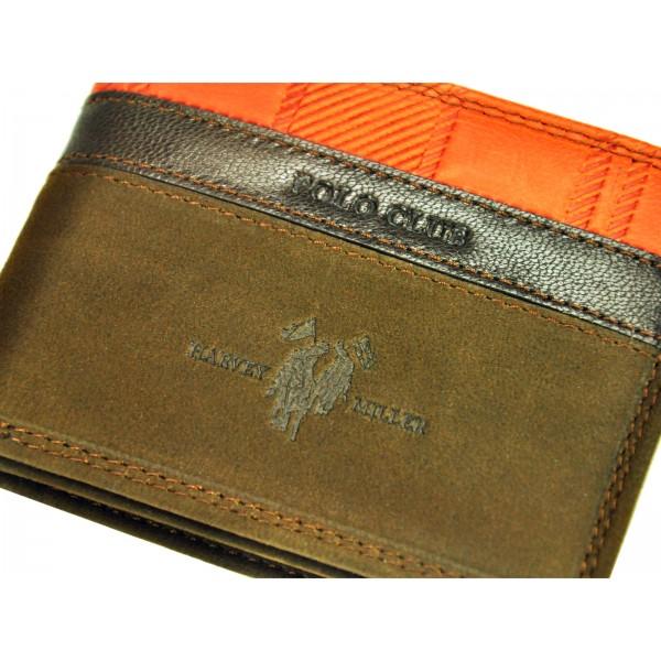 Pánská kožená peněženka Harvey Miller Lincoln - černá