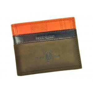Pánská kožená peněženka Harvey Miller Lincoln - hnědá