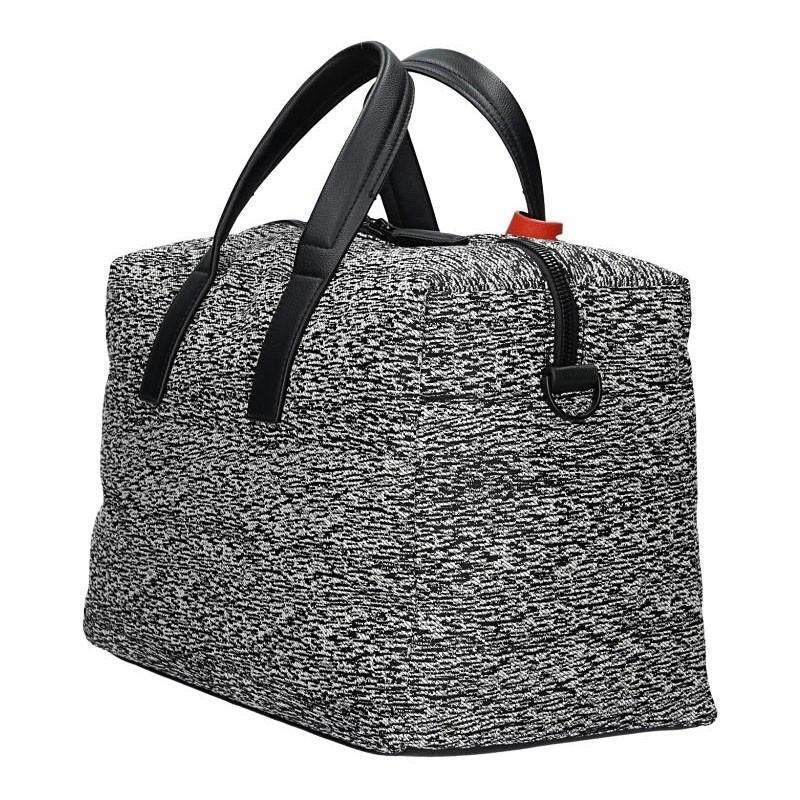 Pánská cestovní taška Calvin Klein Oliver - černo-bílá