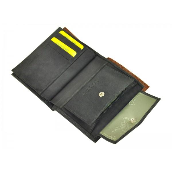 Pánská kožená peněženka Harvey Miller Morro - černá