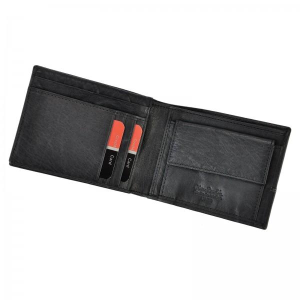 Pánská kožená peněženka Pierre Cardin Martin - černá
