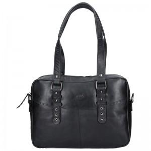 Dámská celokožená kabelka Justified Makalu - černá