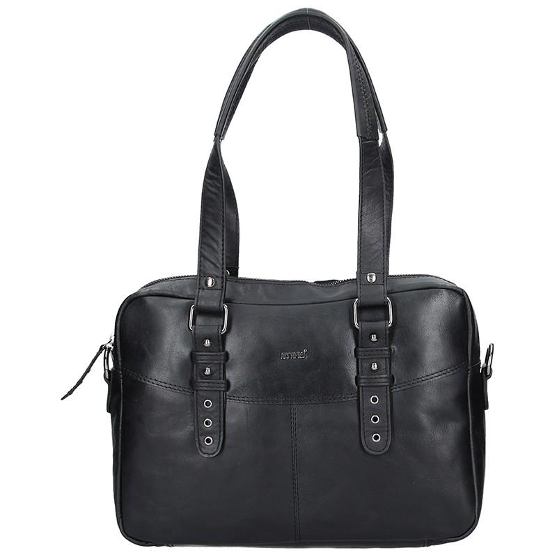 Dámská kožená kabelka Justified Makalu - černá ddc9a75a783