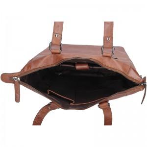 Dámská kožená kabelka Justified Market - tmavě hnědá