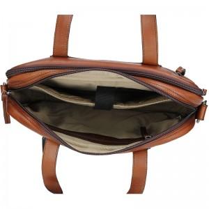 Pánská kožená taška přes rameno Justified Eric - koňak