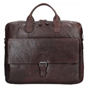 Pánská kožená taška přes rameno Justified Filip - tmavě hnědá