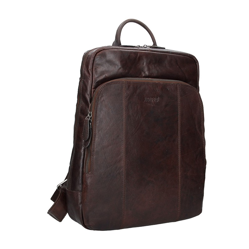 Pánský kožený batoh Justified Arthur - hnědá 21be7a0db5