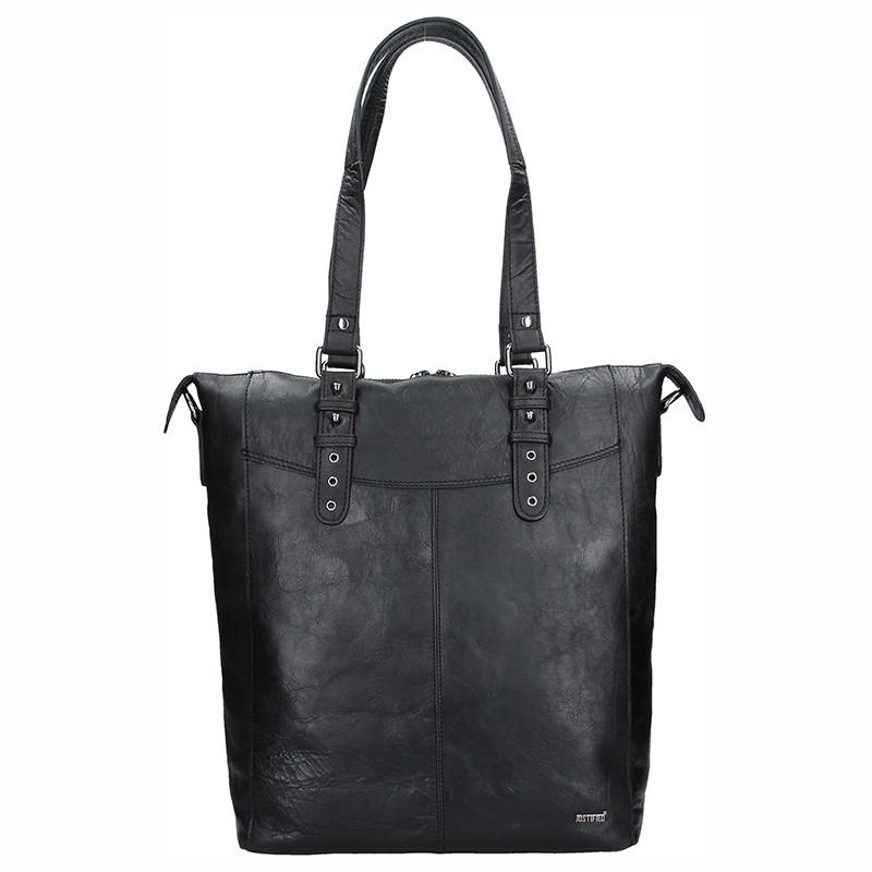 Dámská kožená kabelka Justified Market - černá