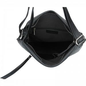 Dámská kožená kabelka Facebag Milen - černá