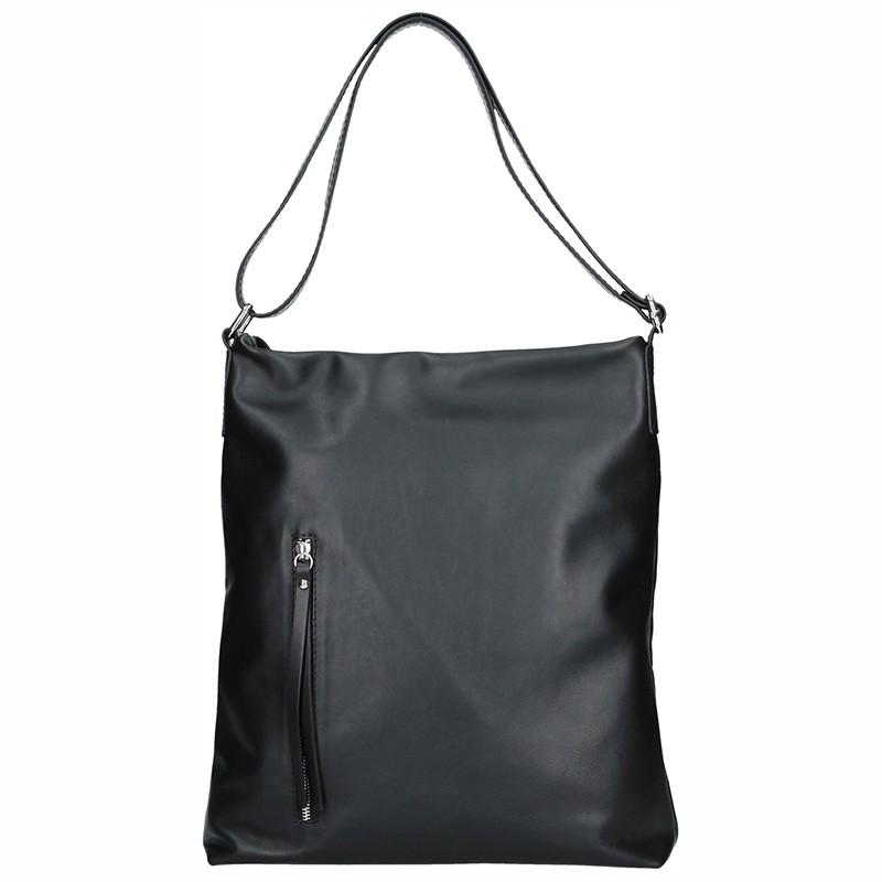 Dámská kožená kabelka Facebag Milen - černá hladká 17686d50d55
