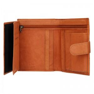 Pánská kožená peněženka Diviley Brock - tmavě hnědá