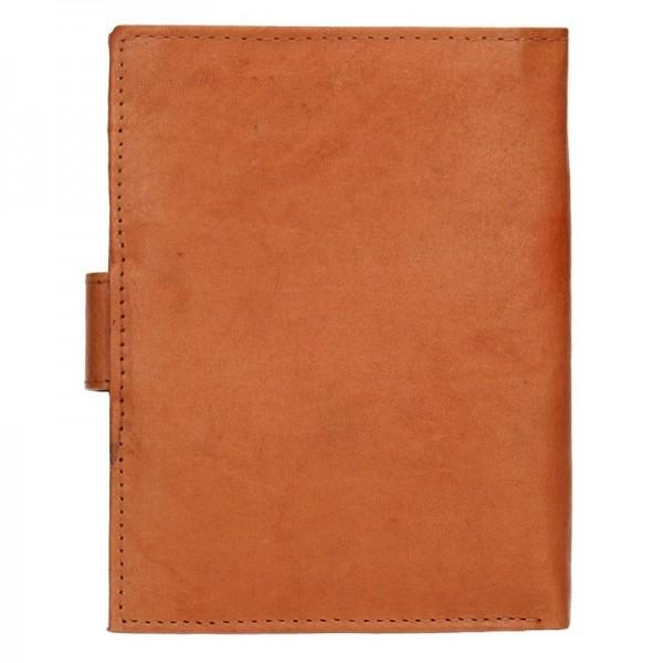 Pánská kožená peněženka Diviley Brock - světle hnědá