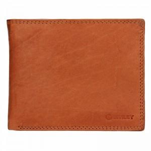 Pánská kožená peněženka Diviley Evžen - světle hnědá