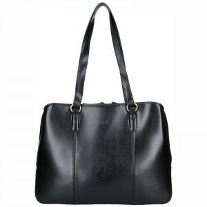 Elegantní dámská kožená kabelka Katana Paloma - černá