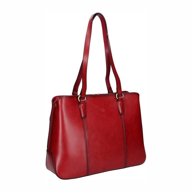 Elegantní dámská kožená kabelka Katana Paloma - hnědá