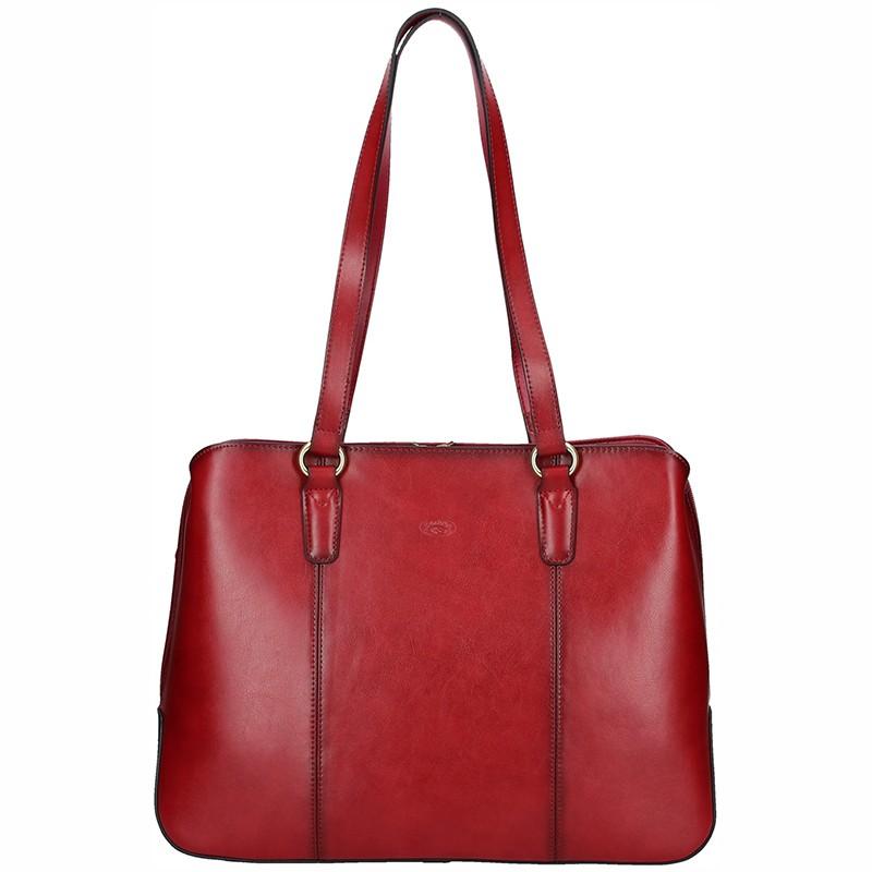 Elegantní dámská kožená kabelka Katana Paloma - tmavě červená f02d4eb327d