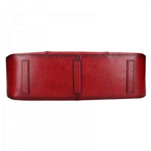 Elegantní dámská kožená kabelka Katana Paloma - tmavě červená