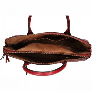 Elegantní dámská kožená kabelka Katana Celesta - tmavě červená