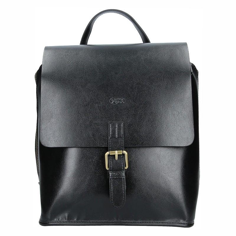 Elegantní dámský kožený batoh Katana Petronela - černá