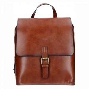 Elegantní dámský kožený batoh Katana Petra - hnědá