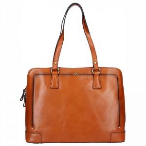 Elegantní dámská kožená kabelka Katana Ulma - hnědá