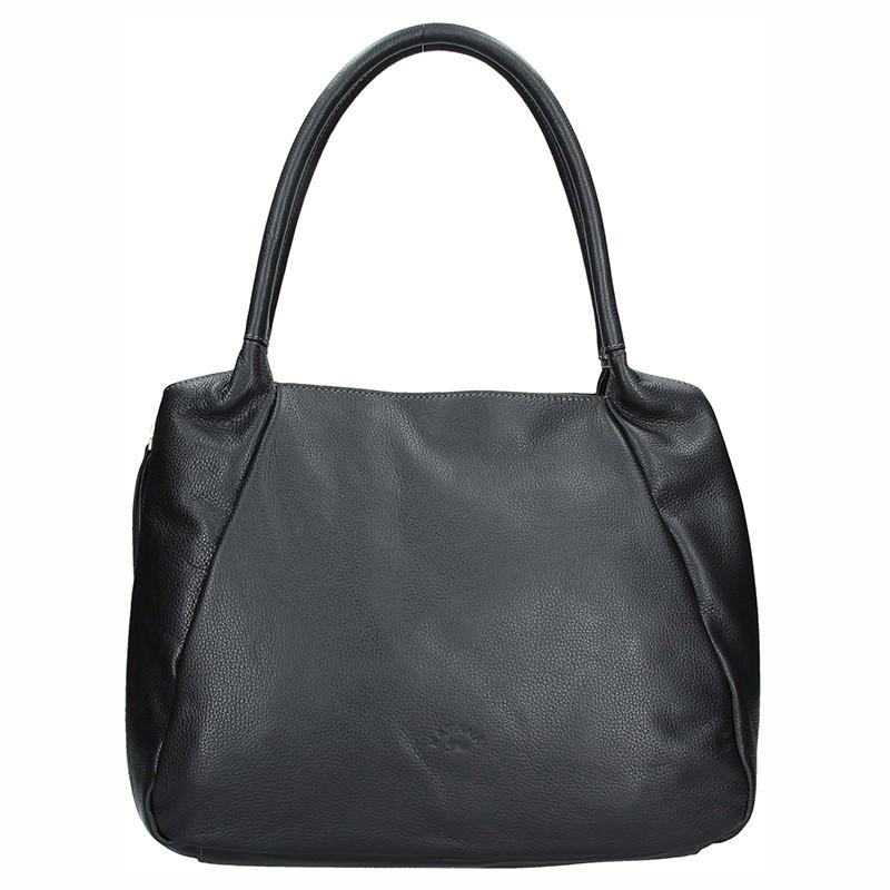 Elegantní dámská kožená kabelka Katana Olena - černá