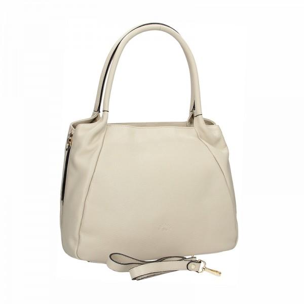 Elegantní dámská kožená kabelka Katana Olena - krémová