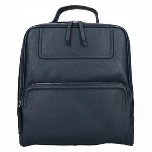 Dámský kožený batoh Katana Radka - modrá