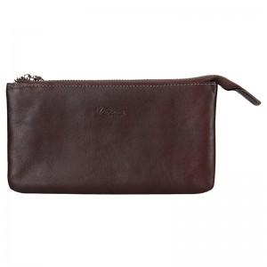 Dámská kožená peněženka Katana Lizza - hnědá