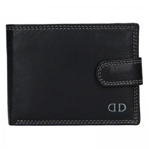 Pánská kožená peněženka DD Anekta Wiliam - černo-šedá