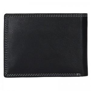 Pánská kožená peněženka DD Anekta Fido - černo-modrá