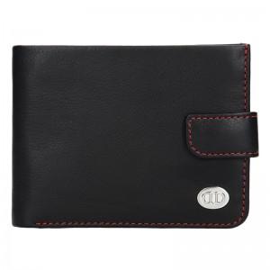 Pánská kožená peněženka DD Anekta Milan - černo-červená