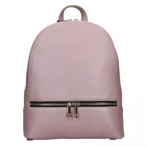Dámský kožený batoh Facebag Paloma - růžová