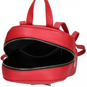 Dámský kožený batoh Facebag Paloma - červená