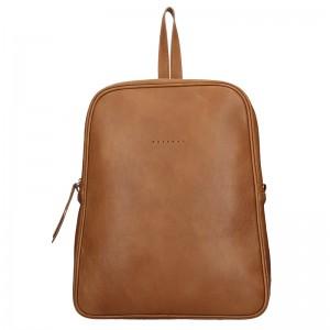 Dámský kožený batoh Facebag Linad - hnědá