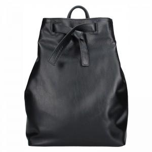 Dámský kožený batoh Facebag Elma - černá