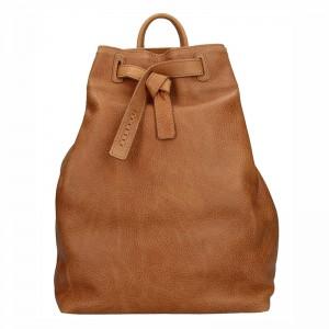 Dámský kožený batoh Facebag Elma - hnědá