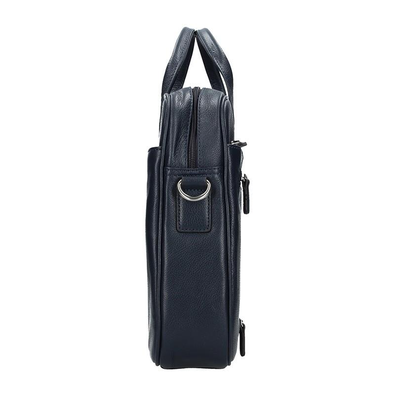 Pánská kožená taška přes rameno Hexagona Tango - modrá
