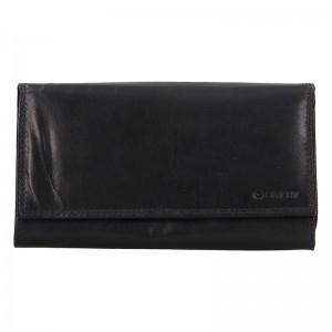Dámská kožená peněženka Diviley Lorra - černá