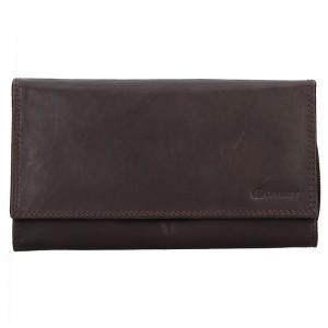 Dámská kožená peněženka Diviley Lorra - hnědá