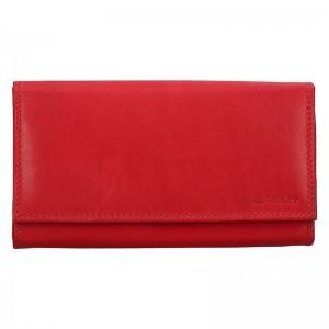 Dámská kožená peněženka Diviley Lorra - červená