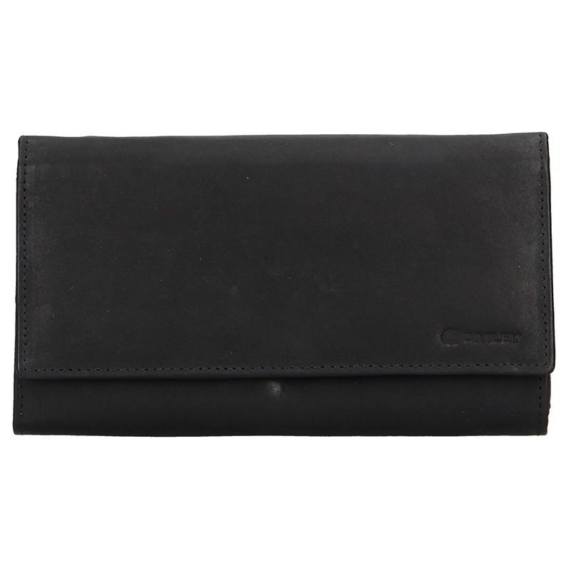 Dámská kožená peněženka Diviley Emma - černá