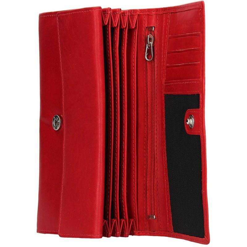 Dámská kožená peněženka Diviley Emma - červená