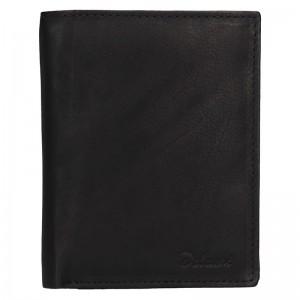 Pánská kožená peněženka Diviley Merkur - černá