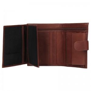 Pánská kožená peněženka Diviley Jupiter - hnědá