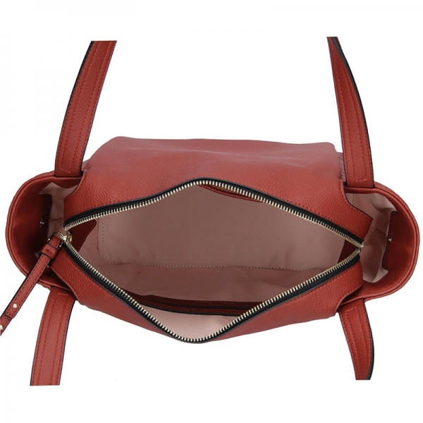 Dámská kabelka Calvin Klein Ilon - hnědo červená