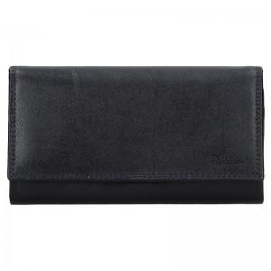 Dámská kožená peněženka Diviley Vilma - černá